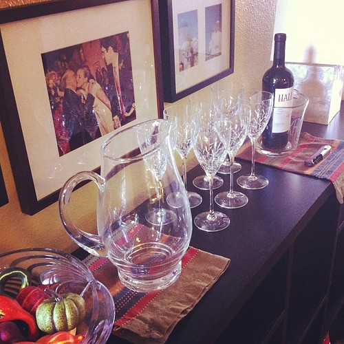 Wine bar at the ready... #thanksgiving