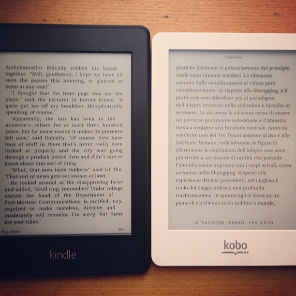 Kindle Paperwhite vs. Kobo Glo