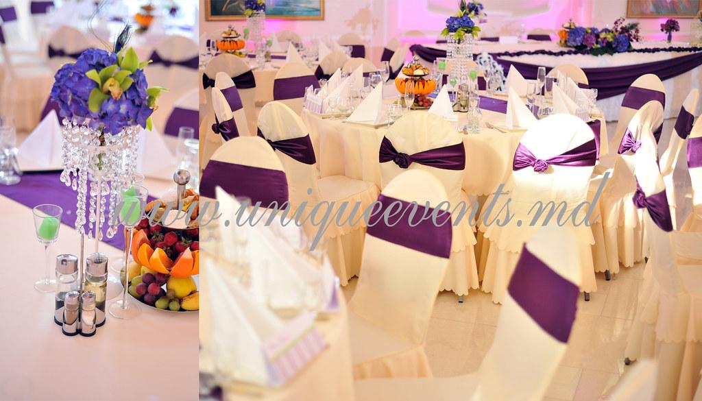 Unique Events: decorațiuni pentru nuntă > Foto din galeria `Nuntă mov și verde la Butoiaș`