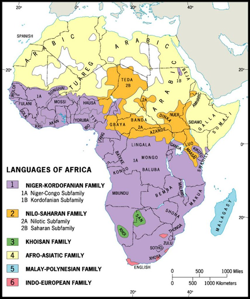 Maps African Studies - African language map