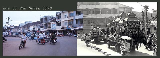 Ngã tư Phú Nhuận 1970 - đường Võ Tánh, nay là Hoàng Văn Thụ