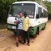 Ed Drewitt and the bus drive Alaji