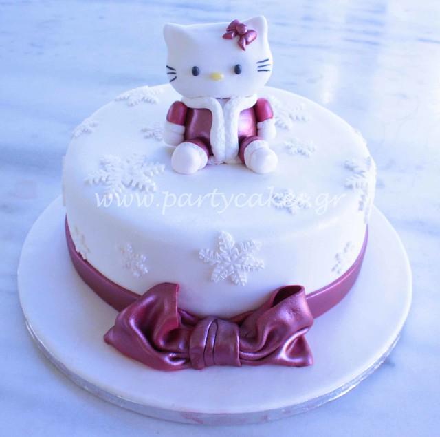 Hello Kitty Winter Cake   Flickr - Photo Sharing!