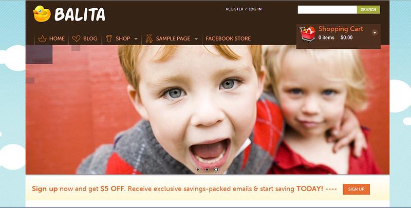 Balita - Theme đẹp dành cho plugin WP e-Commerce