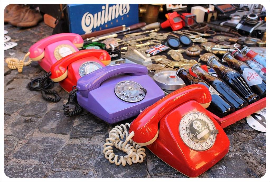san telmo antiques market telephones