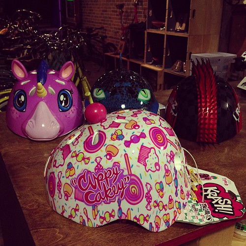 Cuppy Cakey and other rad helmets for kids just arrived.