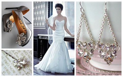 {Beautiful Gown + Glam Accessories} Bridal Style by Nina Renee Designs