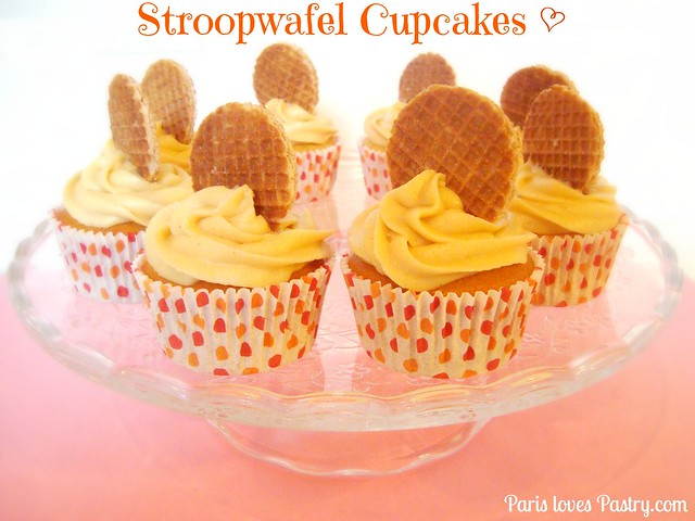 Dutch Stroopwafel Cupcakes