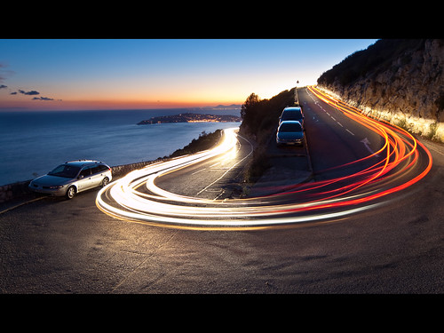 road longexposure light sunset france cars de dawn soleil nice stream exposure dusk lumière coucher trails olympus monaco côtedazur route bluehour fusion crépuscule viewpoint zuiko dri mediterraneansea voitures pointdevue capdail filé méditerranée frenchriviera virage capferrat laturbie phares digitalblending jpmiss e620 918mm