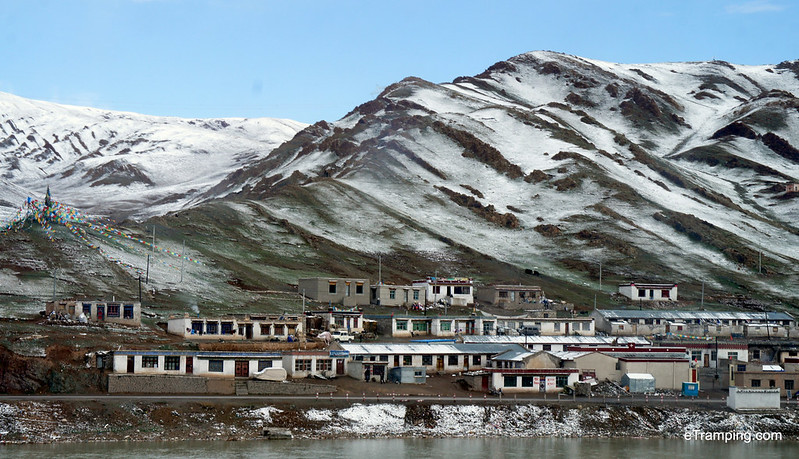 The view from train's window in Tibet