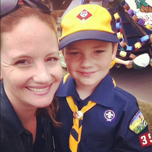 Christmas parade with my #cubscout this morning.