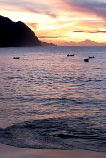 sunset over castara 2