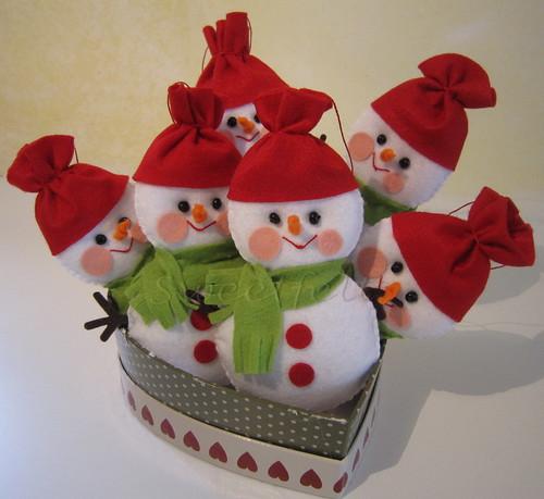 ♫♫♪ Frosty, the Snowman... ♪♫♫♪ by sweetfelt \ ideias em feltro