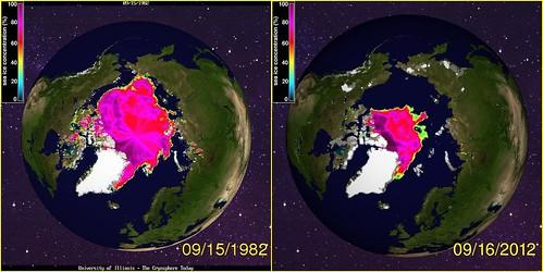 30 years of Arctic sea ice