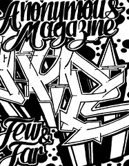 Anonymous Graffiti Magazine: Issue 3 by H.R. Paperstacks