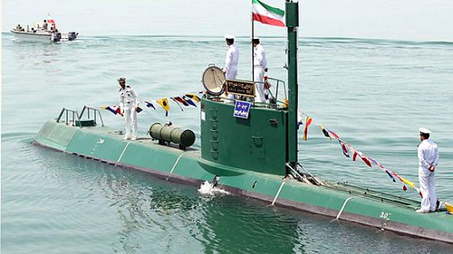 An Iranian submarine is being launched in the Persian Gulf. The country is seeking to protect its land and waterways under threat by US imperialism. by Pan-African News Wire File Photos