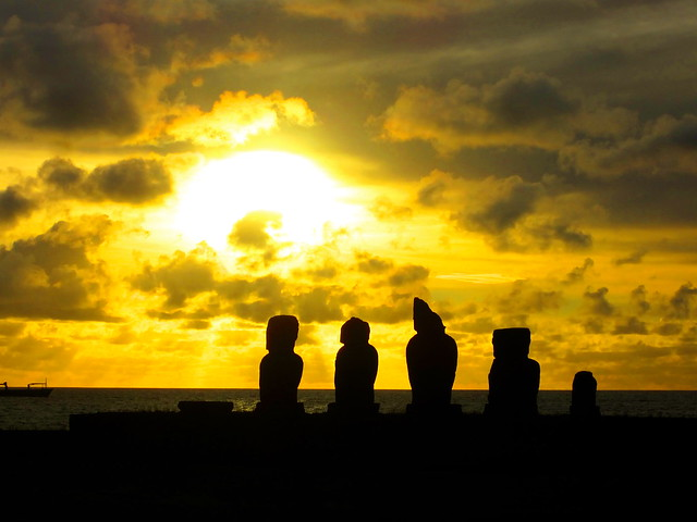 sunset-easter-island