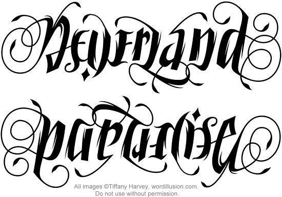 """NeverLand"""" & """"Paradise"""" Ambigram   Flickr - Photo Sharing!"""