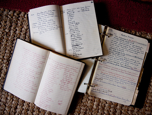 Some of my field notebooks from the 70s