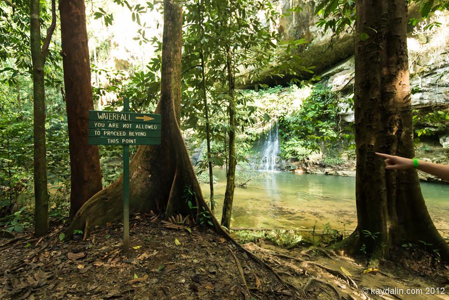 paku waterfall, malaysia