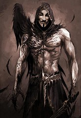 fictional character, drawing, demon, darkness, illustration,