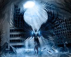 [フリー画像素材] グラフィック, イラスト・CG, 堕天使 ID:201212140000
