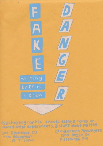 Fake Danger reading poster