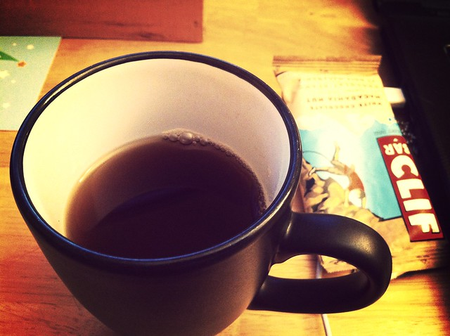 tea and a Clif bar