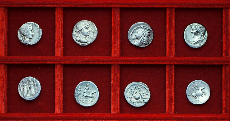 RRC 391 C.EGNATIVS, RRC 392 L.FARSVLEI, RRC 393 CN.LEN.Q Cornelia, RRC 395, 72BC L.COSSVTI Cossutia, Ahala collection, coins of the Roman Republic