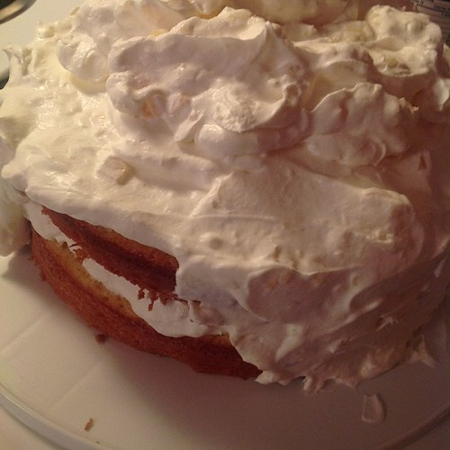 Real whipped cream...