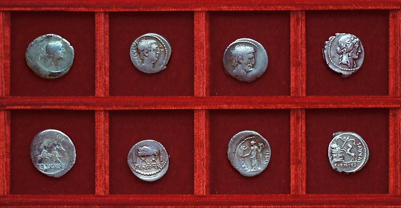 RRC 494-30,31,32,36 L.LIVINEIVS REGVLVS, C.VIBIVS VARVS, Livineia, Mark Antony, Vibia, Ahala collection Roman Republic