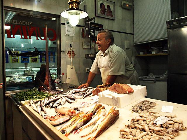 Fishmonger, Mercado San Agustin, Granada
