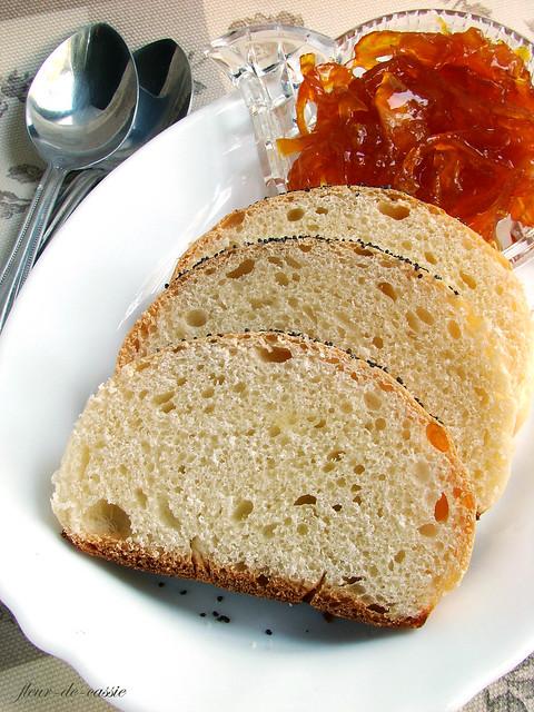 конфитюр апельсиновый с цедрой и булочки
