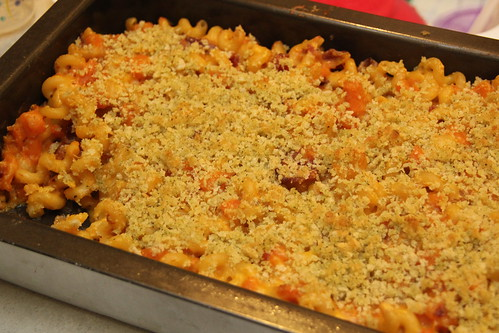 Squash and Bacon Mac & Cheese