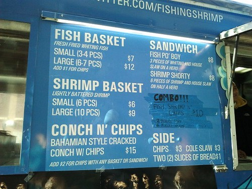 fishing shrimp menu