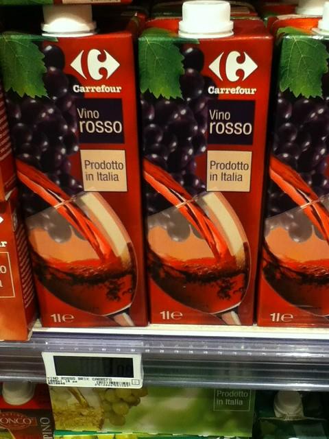 1L red wine, 1.09 Euro