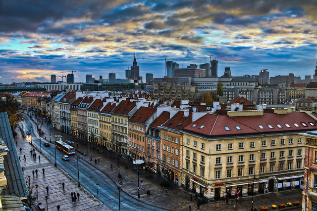 0327 - Poland, Warsaw, City View HDR