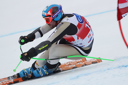 Jan Hudec in action during World Cup super-G in Val Gardena, Italy.