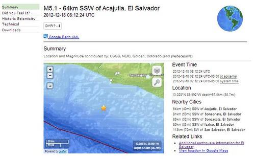 Temblor USGS