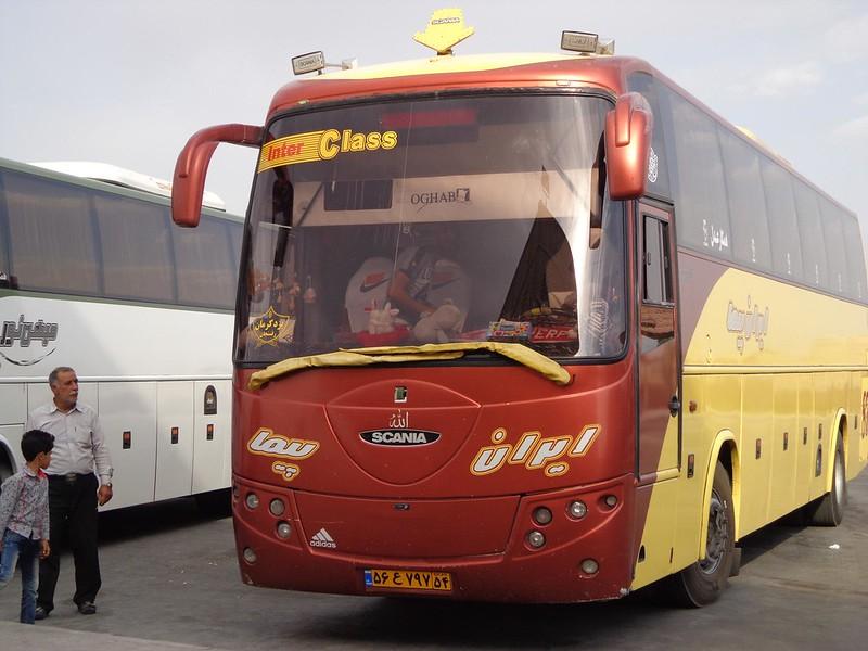 Autocarro / ônibus Yazd até Kerman no Irão