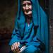 Portrait of an old afghan woman, Badakhshan province, Qazi deh, Afghanistan by Eric Lafforgue