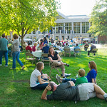 12-043-3 -- Families relax for fun and a picnic on the Eckley Quadrangle during Family Weekend.