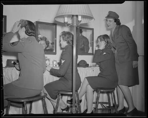 Military women getting pretty by Boston Public Library