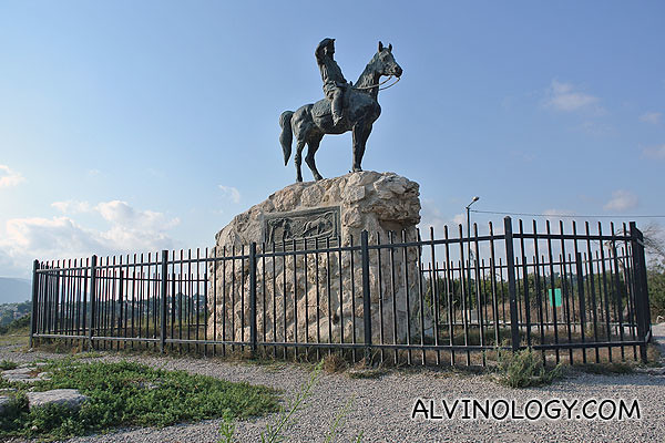 A closer shot of the statue