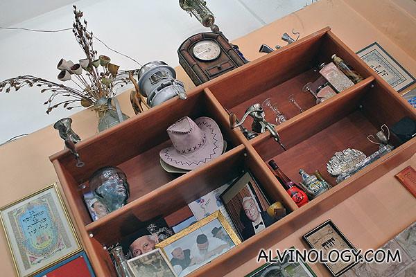 Shelves of knick knacks