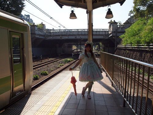 A Lolita at Harajuku Station