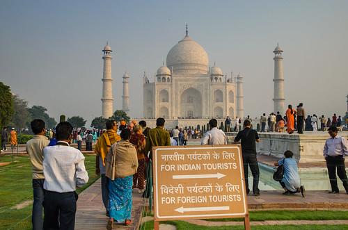 Segregation outside the Taj Mahal