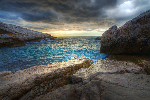 sunset sea mer seascape france clouds marseille rocks provence nuages paysage hdr coucherdesoleil rochers 3xp samena saména