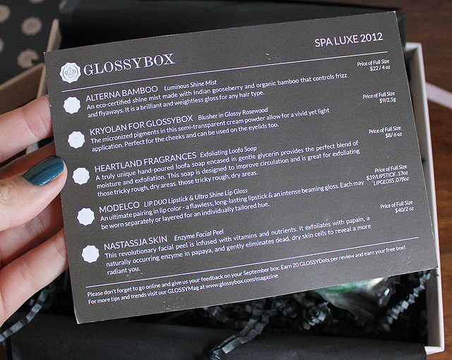 october glossybox 4