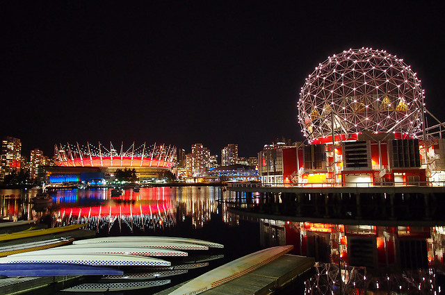 "BC Place in ""Poppy Red"""
